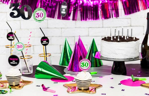 dekoracje na 30ste urodziny, dekoracje na 30stkę