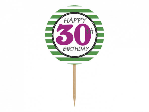 dekoracje na imprezę, dekoracjena 30stkę, toppery do muffinek, dekoracje do muffinek, dekoracje cupcake na 30stkę,