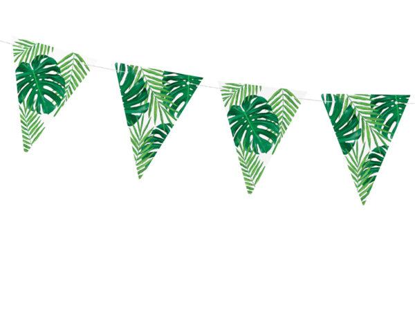 girlanda na party w stylu hawajskim, girlanda tropikalna Aloha!, girlanda na tropikalne party, girlanda liście palmowe