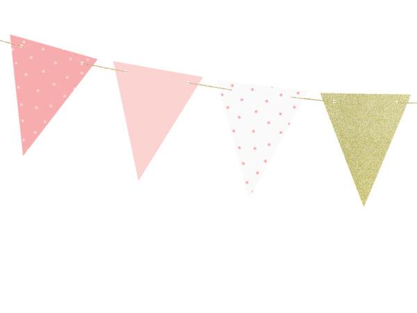 girlanda na roczek, girlanda urodzinowa, girlanda urodzinowa różowo złota, dekoracje urodzinowe