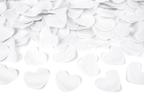 konfetti białe płatki róż, konfetti białe tuba