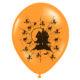 pomarańczowe balony z grafiką na Halloween