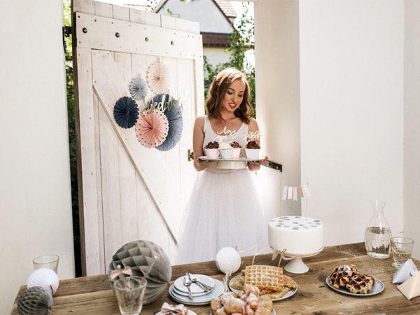 rozety papierowe dekoracyjne mix, dekoracje candy bar, dekoracje urodzinowe, dodatki na imprezy, dekoracje na wesele, paper rosettes, paper decoration set