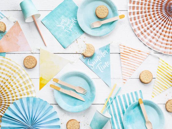 rozety papierowe odcienie pastelowe, papierowe dekoracje na imprezy, akcesoria na przyjęcia, dekoracje candy bar, dekoracje urodzinowe, dekoracje na 18stkę