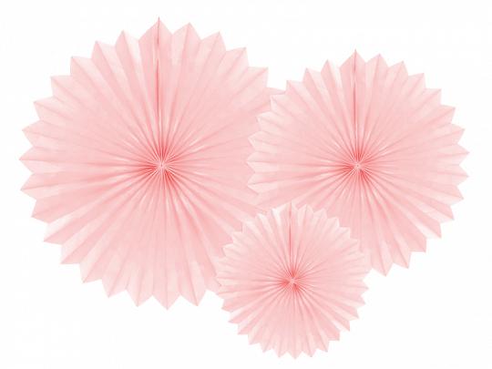 Rozety Dekoracyjne Pudrowy Róż 3 Sztop