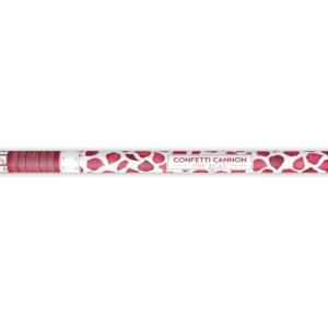 tuba konfetti bordo płatki róż