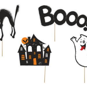 dekoracje do zdjęć na Halloween, papierowe dekoracje na Halloween, gadżety do zdjęć na Halloween