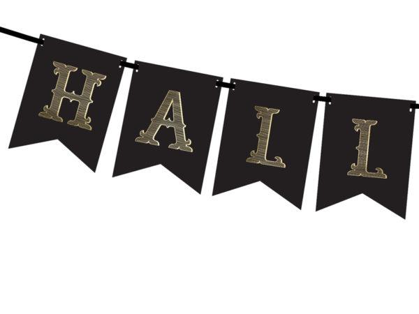 paper decoration Halloween, baner Halloween, papierowe dekoracje na halloween, Halloween Banner