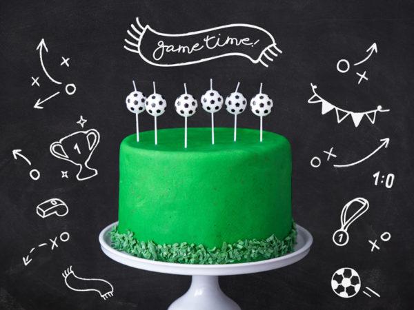świeczki na tort urodzinowy piłka nożna, świeczki urodzinowe piłka nożna,