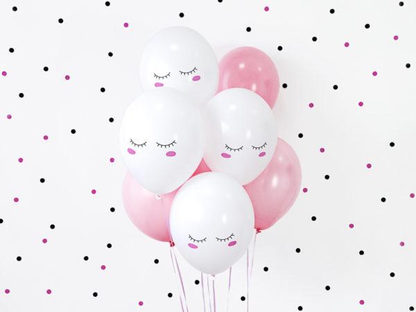 balon buźka 30 cm, balon na przyjęcie urodzinowe dla dziewczynki