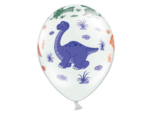 balon dinozaury 30 cm, balon 30 cm dinozaury, balon urodzinowy w dinozaury 30 cm
