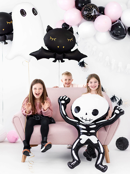 balon na halloween, balon foliowy kościotrup, dekoracje imprezowe halloween