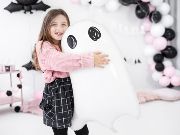 balony na halloween, balony foliowe halloween, balon foliowy duszek, dekoracje na halloween, dekoracje imprezowe halloween, balony z helem halloween