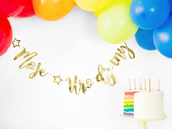 baner urodzinowy moje urodziny złoty, złotyy baner urodzinowy, złote dekoracje urodzinowe