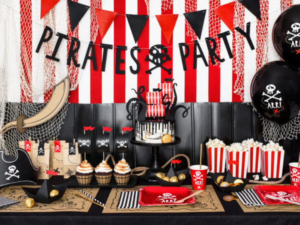 dekoracje balonowe piraci, piracki balon 30 cm, balon na przyjęcie dla chłopca, dekoracje na przyjęcia piraci