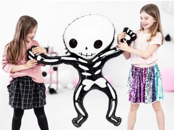 dekoracje imprezowe halloween, balon foliowy kościotrup, balon na halloween,