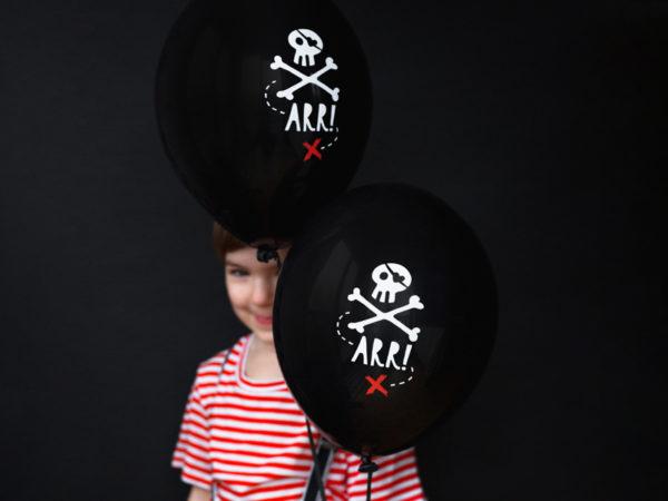 dekoracje na przyjęcia piraci, piracki balon 30 cm, balon na przyjęcie dla chłopca, dekoracje balonowe piraci,