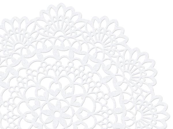 papierowe wizytówki rozety 5 cm, dekoracje papierowe na stół, ozdobne wizytówki na stół 5 cm