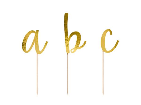 pikery alfabet, dekoracje na tort, dekoracje candy bar, dekoracje urodzinowe, literki na tort, alfabet na tort