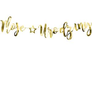 złoty baner urodzinowy, baner urodzinowy moje urodziny złoty,