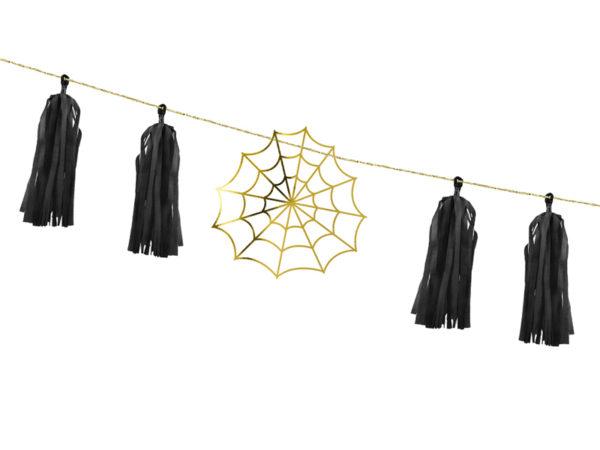 girlanda na halloween, girlanda pajęczyny na halloween, dekoracje na halloween, halloween party decoration