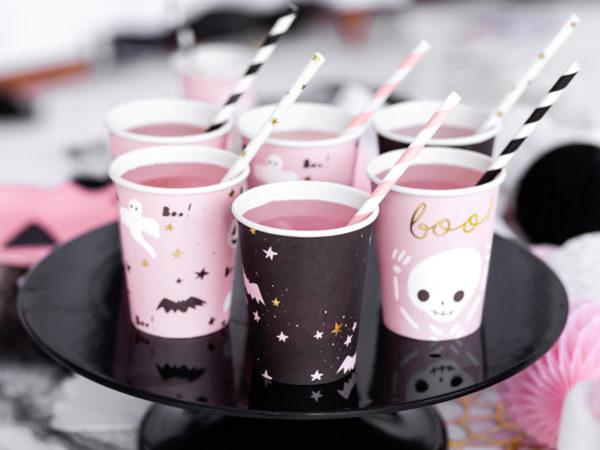 kubeczki na halloween dla dzieci, kubeczki papierowe do napojów na halloween party dla dzieci, dekoracje halloween