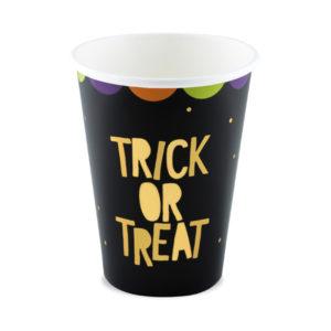 kubeczki papierowe do napojów na halloween, kubeczki do napojów trick or treat