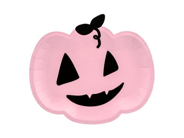 talerzyki dynie, talerzyki jednorazowe na halloween, dekoracje na halloween