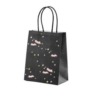 torebki na słodycze nietoperze, torebki na słodycze halloween, torebki na slodkości na halloween, dekoracje halloween