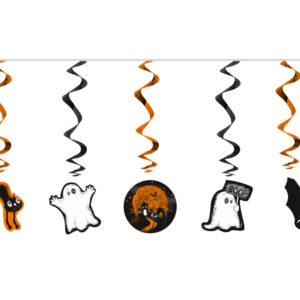 wiszące świderki halloween, wiszące świderki duszki i koty na halloween