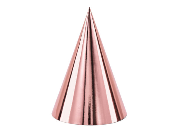 czapeczki na imprezę różowe złoto, czapeczki urodzinowe golden rose,czapeczki na sylwestra różowe złoto