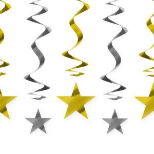 dekoracje noworoczne złote gwiazdki świderki , dekoracje wiszące świderki złote gwiazdki, dekoracje urodzinowe wiszące złote gwiazdki, dekoracje candy bar wizące złote,