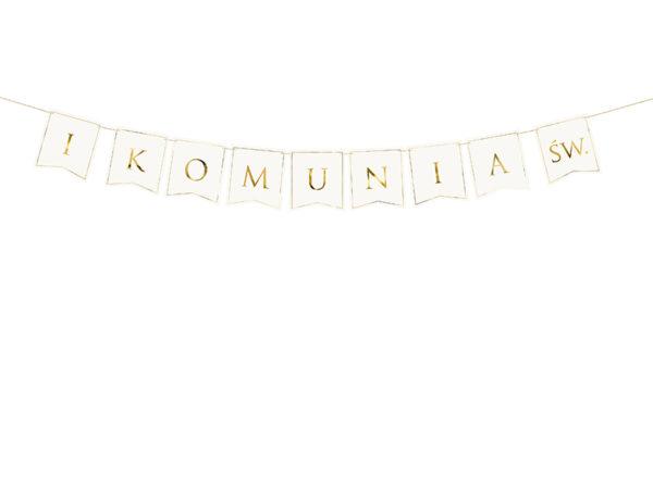 baner na I Komunię, dekoracje na kominue, dekoracje komunijne