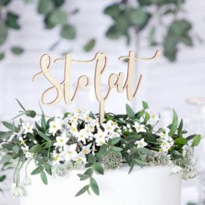 drewniany topper na tort, drewniany topper na tort sto lat, topper na urodziny, topper na jubileusz, topper na rocznicę ślubu