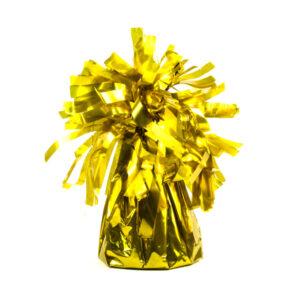 ciężarek do balonów złoty, obciążnik do balonów z helem, obciążnik do balonow złoty