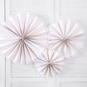 dekoracje na urodziny beż, dekoracje na wesele beżowe, rozety papierowe beżowe, dekoracje na 18 beżowe,