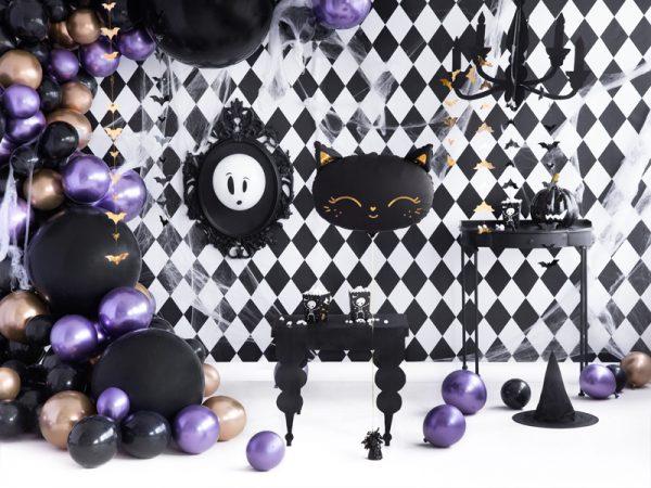 balon kotek na imprezę urodzinową, balon kotek na urodziny, balon foliowy czarny kotek, balon helowy kotek, balon na hel kotek, balon kotek na halloween