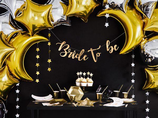 talerzyki złote gwiazdki z nadrukiem buźki, talerzyki urodzinowe złote gwiazdki, talerzyki papierowe złote gwiazdki,