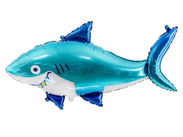 balon helowy rekin, balon foliowy rekin, balon podwodny świat, balony rybki, balony zwierzątka