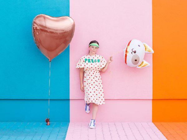balon foliowy piesek, balon helowy piesek, balony zwierzątka, dekoracje na imprezę piesek