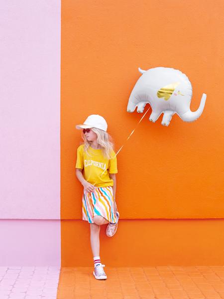 balon foliowy słoń, balon helowy słoń, balon safari, dekoracje balonowe, balony zwierzątka