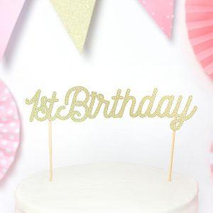 dekoracje na tort na Roczek, topper na tort 1st Birthday, topper na Roczek, dekoracje na Roczek