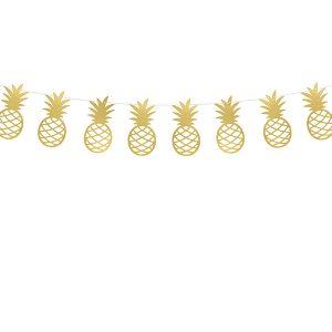 girlanda ananasy, girlanda na imprezę tropikalna, girlanda hawajska, impreza hawajska, dekoracje tropikal party