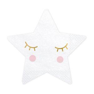 serwetki gwizadki, serwetki papierowe z serii little star, papierowe serwetki urodzinowe gwiazdki